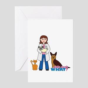 Woman Veterinarian Greeting Card