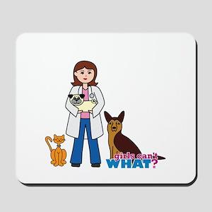 Woman Veterinarian Mousepad