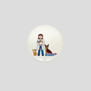 Woman Veterinarian Mini Button
