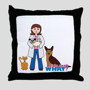 Woman Veterinarian Throw Pillow