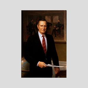 41 George H. W. Bush Rectangle Magnet