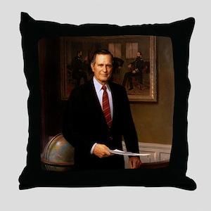 41 George H. W. Bush Throw Pillow