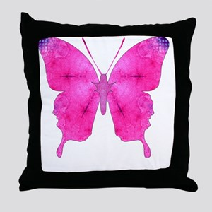 Dazzled Pink Butterfly Throw Pillow