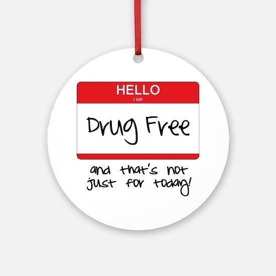 Drug Free Round Ornament