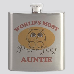 One Purrfect Auntie Flask