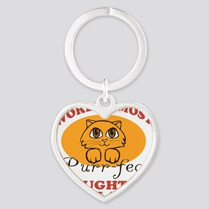 One Purrfect Daughter-In-Law Heart Keychain