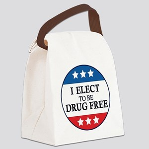 Drug Free Pin Canvas Lunch Bag