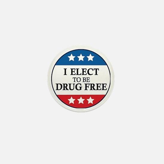 Drug Free Pin Mini Button