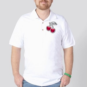 Glass Chrome Cherries Golf Shirt