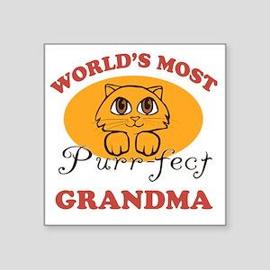 """One Purrfect Grandma Square Sticker 3"""" x 3"""""""