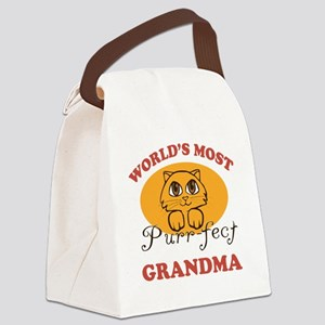 One Purrfect Grandma Canvas Lunch Bag
