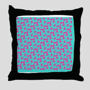 Pink Flamingos Tumble Visual Flamingo Throw Pillow