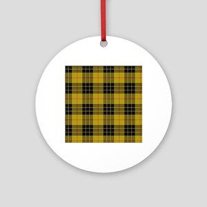 McCleod Tartan Plaid Round Ornament