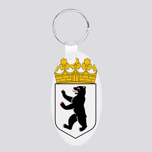 Berlin Coat of Arms Aluminum Oval Keychain