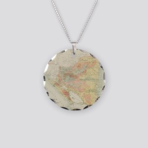 Vintage Map of Nicaragua (19 Necklace Circle Charm