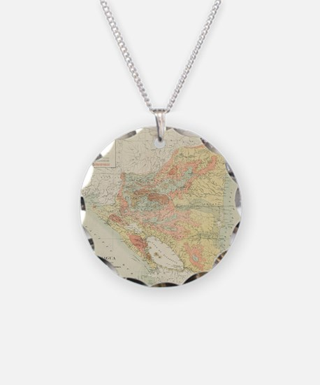 Vintage Map of Nicaragua (19 Necklace