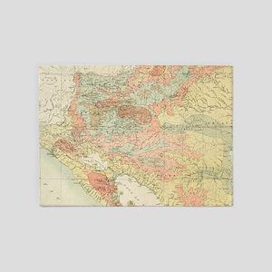Vintage Map of Nicaragua (1903) 5'x7'Area Rug