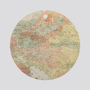 Vintage Map of Nicaragua (1903) Round Ornament