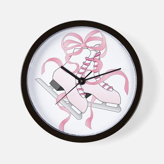 Pink Skates Wall Clock