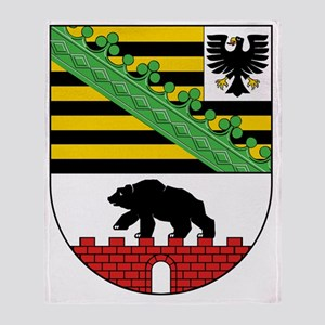 Coat of arms of Sachsen-Anhalt Throw Blanket