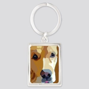 golden retriever Portrait Keychain