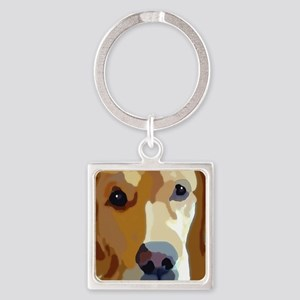 golden retriever Square Keychain