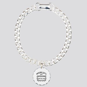 World's Most Awesome Son-In-Law Charm Bracelet, On