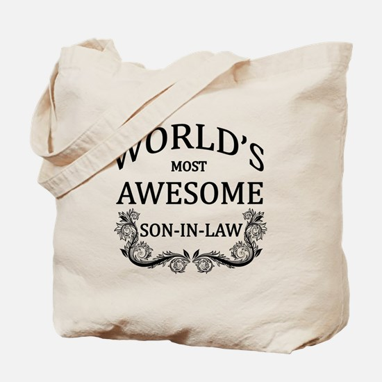 World's Most Awesome Son-In-Law Tote Bag