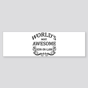 World's Most Awesome Son-In-Law Sticker (Bumper)