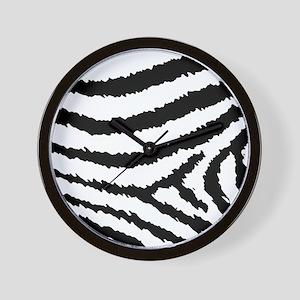 Classic Black And White Jagged Zebra Pr Wall Clock
