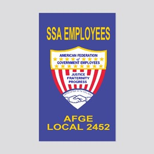 AFGE Sticker For AFGE Local 2452
