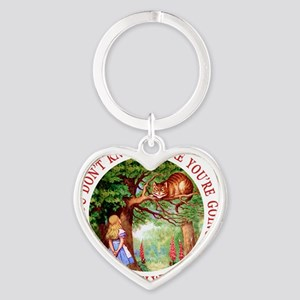 ALICE CAT ANY PATH WILL DO_RED copy Heart Keychain