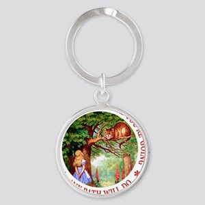 ALICE CAT ANY PATH WILL DO_RED copy Round Keychain