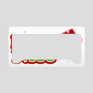 Naughty IS Nice Christmas Des License Plate Holder