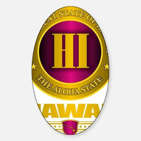 Hawaii Gold Label Sticker (Oval)
