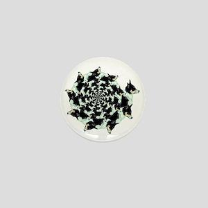 Geo Corgi Mist Spiral Mini Button