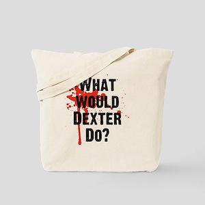 What would Dexter Do Blood Splatter Tote Bag