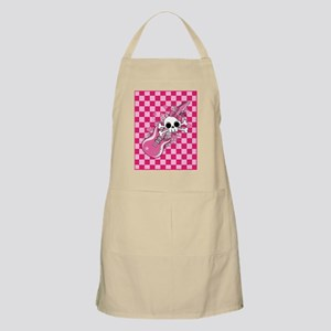 Cute Skull with Pink Guitar Apron
