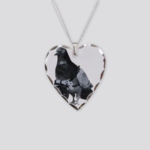 Spy Pigeon Necklace Heart Charm