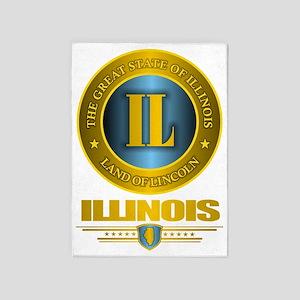 Illinois Gold 5'x7'Area Rug
