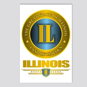 Illinois Gold Postcards (Package of 8)