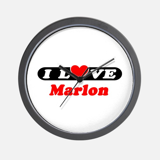 I Love Marlon Wall Clock