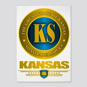 Kansas Gold Label 5'x7'Area Rug