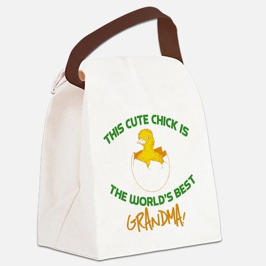 Cute Grandma Canvas Lunch Bag