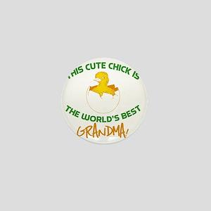 Cute Grandma Mini Button