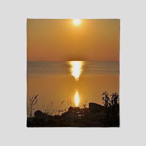 Rodanthe Sunset Throw Blanket