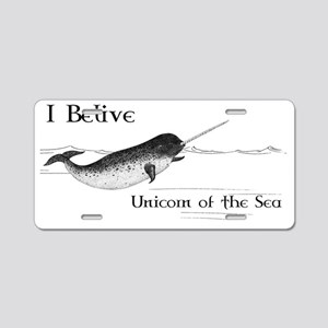 I Believe - Unicorn of the  Aluminum License Plate