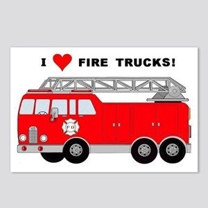 I Heart Fire Trucks! Postcards (Package of 8)