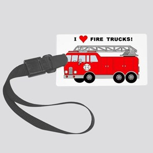 I Heart Fire Trucks! Large Luggage Tag
