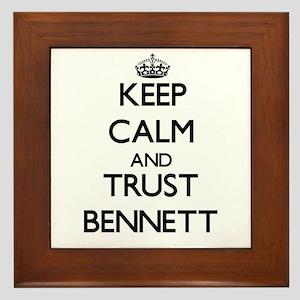 Keep Calm and TRUST Bennett Framed Tile